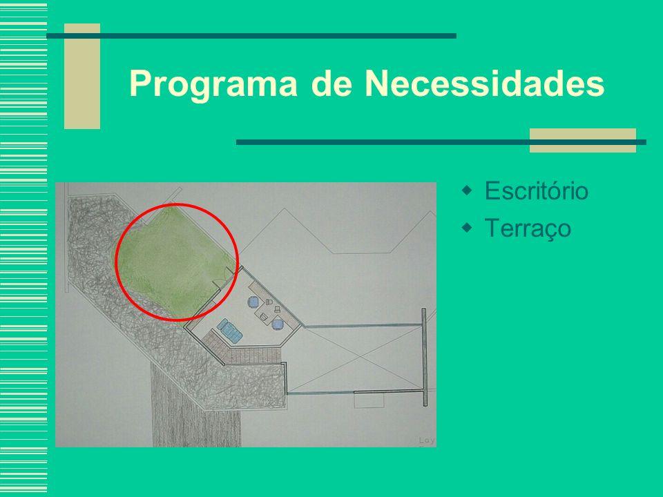 Programa de Necessidades Escritório Terraço