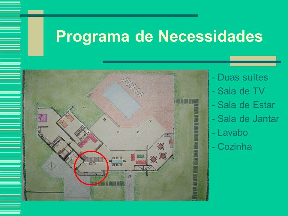 Partido Arquitetônico As duas condições que deram forma ao projeto foi a posição em relação ao norte e a intenção de integração com a natureza, através do uso de vidros; Residência, Bragança Paulista- SP