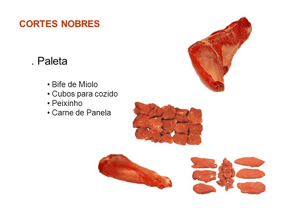 CORTES NOBRES. Paleta Bife de Miolo Cubos para cozido Peixinho Carne de Panela