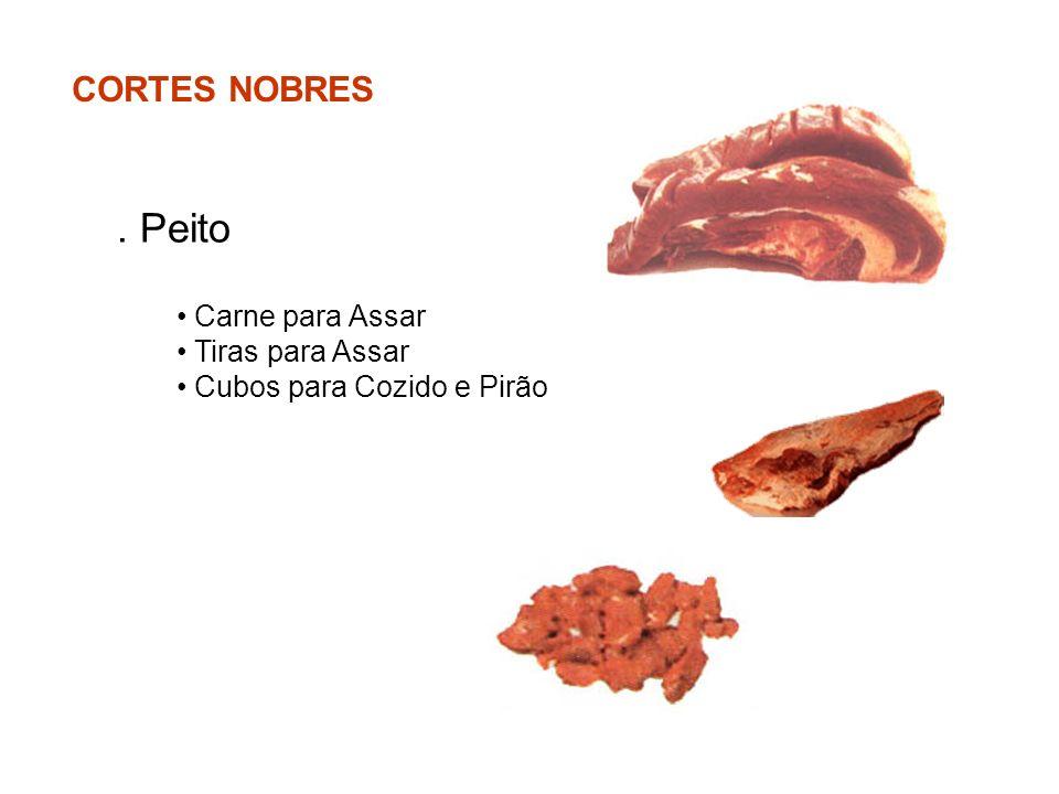CORTES NOBRES. Peito Carne para Assar Tiras para Assar Cubos para Cozido e Pirão
