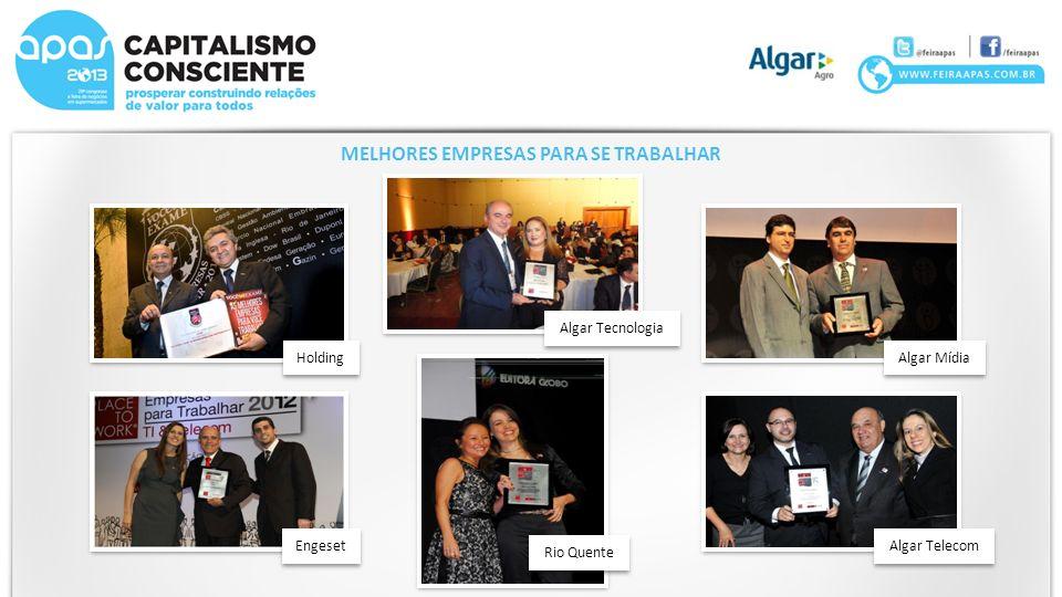Holding Algar Tecnologia Rio Quente Engeset Algar Mídia Algar Telecom MELHORES EMPRESAS PARA SE TRABALHAR