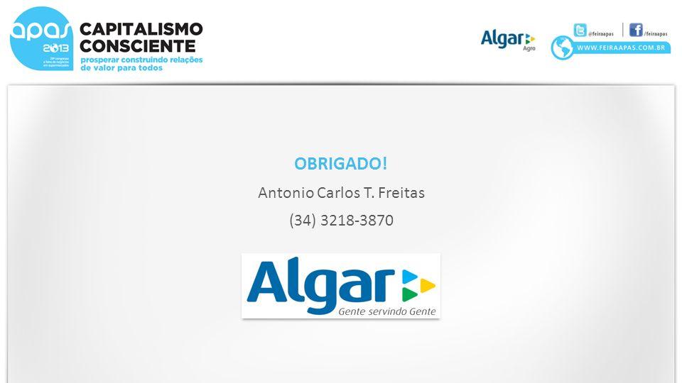OBRIGADO! Antonio Carlos T. Freitas (34) 3218-3870
