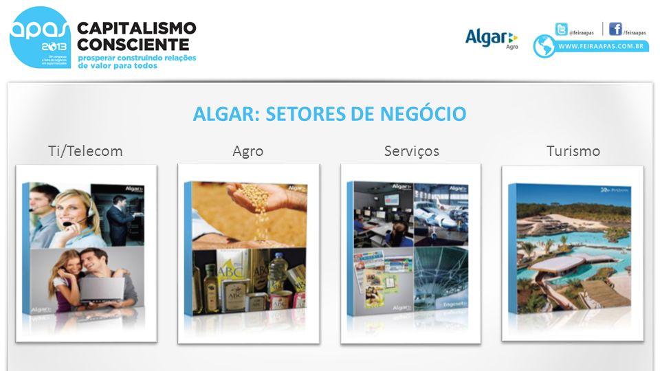 Ti/TelecomAgroServiçosTurismo ALGAR: SETORES DE NEGÓCIO