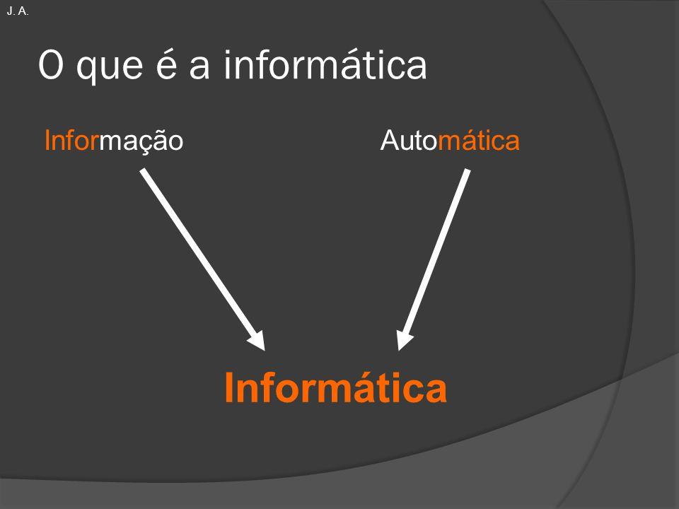 O que é a informática Informação Automática Informática J. A.