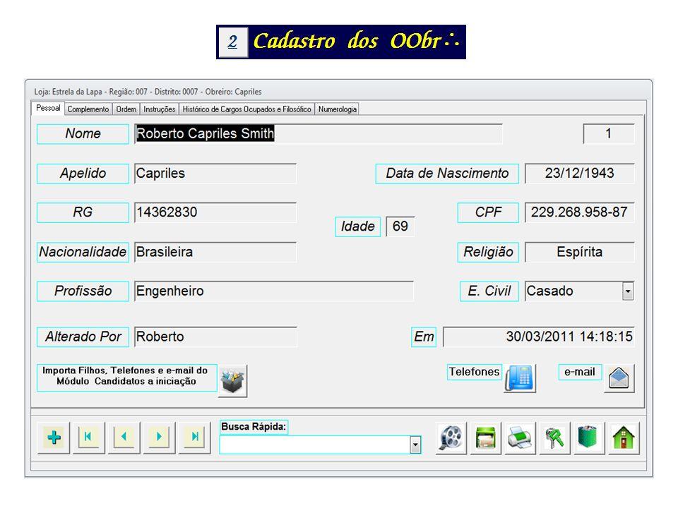 Além dos dados Pessoais mostrados na tela anterior o Complemento permite o cadastro de todos os outros dados de interesse da loja.