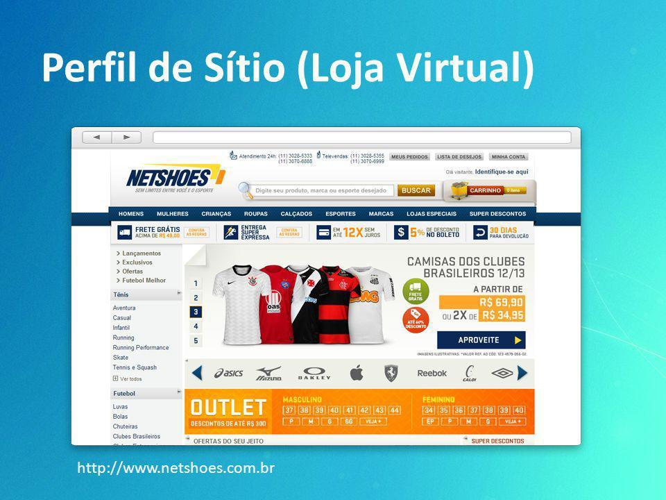 Perfil de Sítio (Loja Virtual) http://www.netshoes.com.br