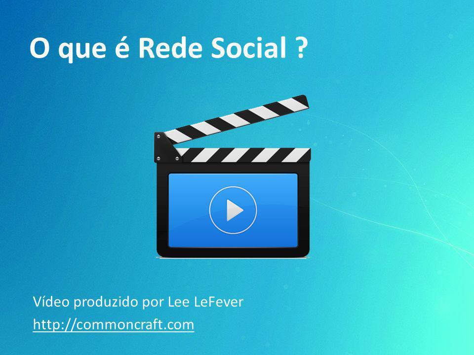 O que é Rede Social ? Vídeo produzido por Lee LeFever http://commoncraft.com