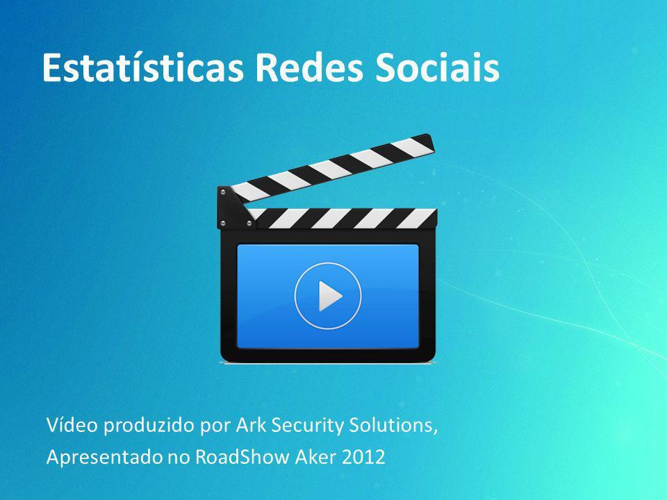 Estatísticas Redes Sociais Vídeo produzido por Ark Security Solutions, Apresentado no RoadShow Aker 2012