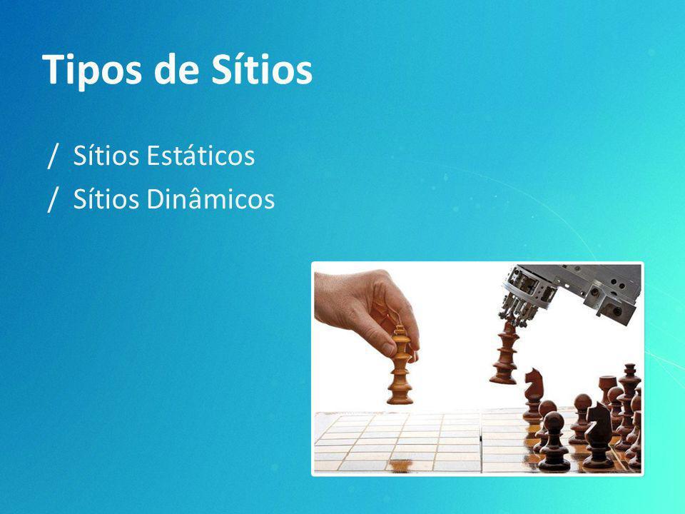 Tipos de Sítios / Sítios Estáticos / Sítios Dinâmicos