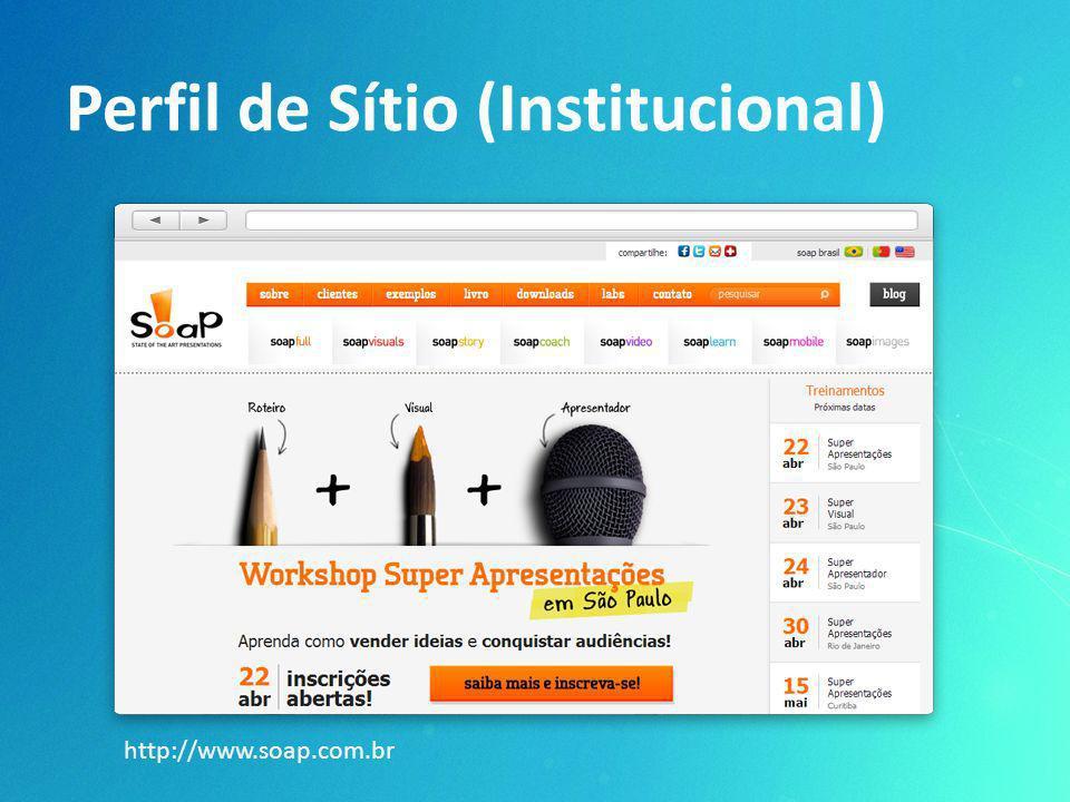 Perfil de Sítio (Institucional) http://www.soap.com.br