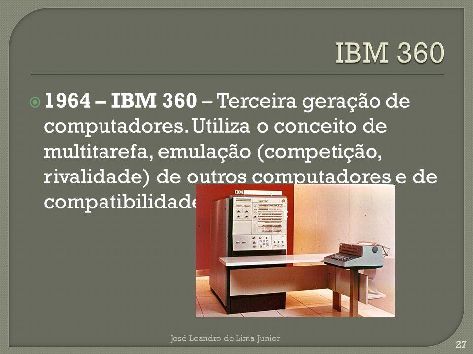 1964 – IBM 360 – Terceira geração de computadores.