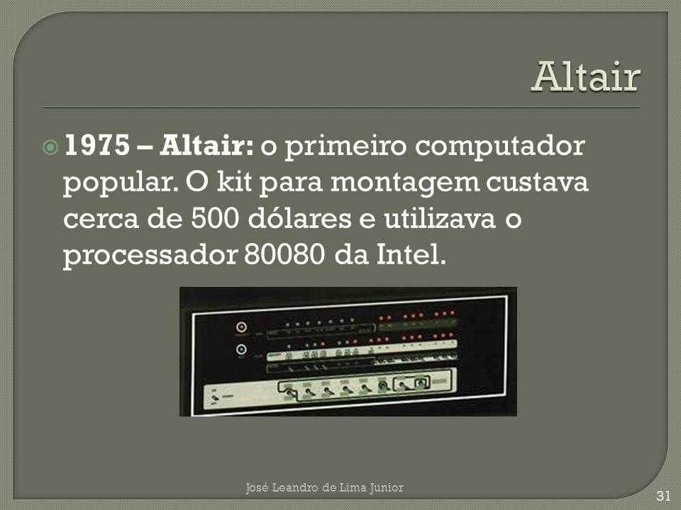 1975 – Altair: o primeiro computador popular.