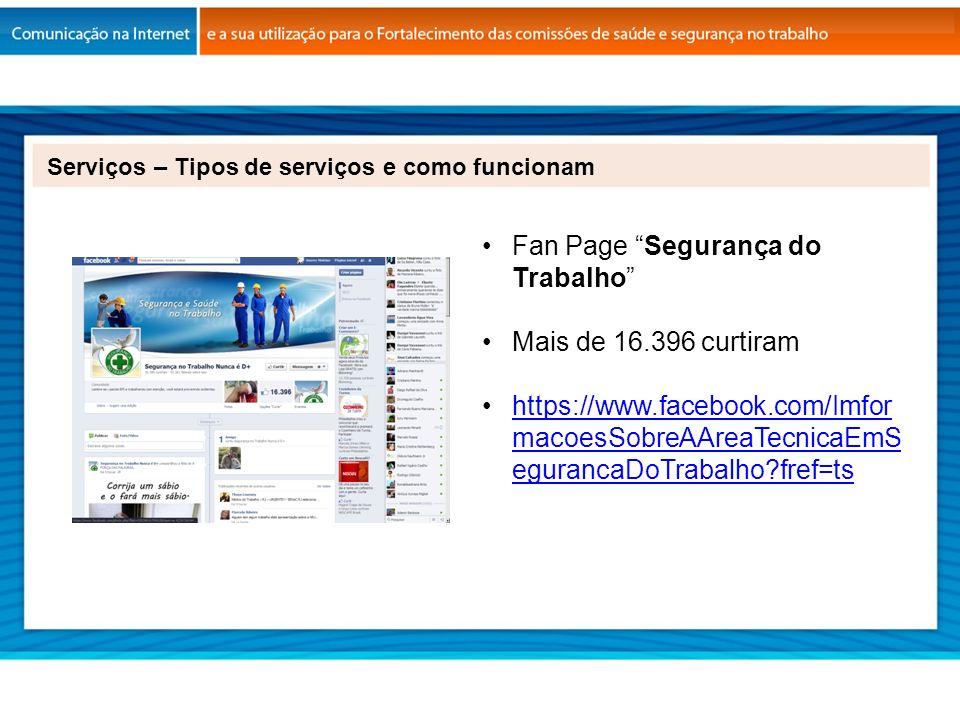 Fan Page Segurança do Trabalho Mais de 16.396 curtiram https://www.facebook.com/Imfor macoesSobreAAreaTecnicaEmS egurancaDoTrabalho?fref=tshttps://www