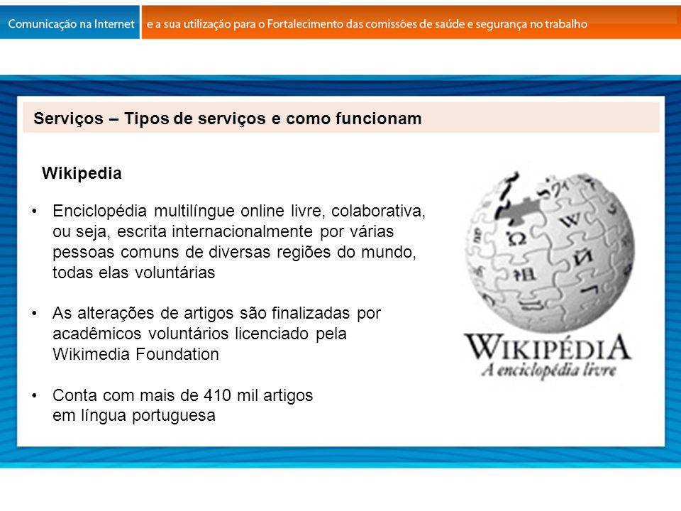 Enciclopédia multilíngue online livre, colaborativa, ou seja, escrita internacionalmente por várias pessoas comuns de diversas regiões do mundo, todas