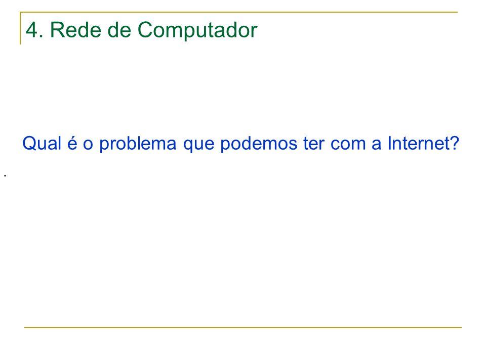 4. Rede de Computador Qual é o problema que podemos ter com a Internet?.