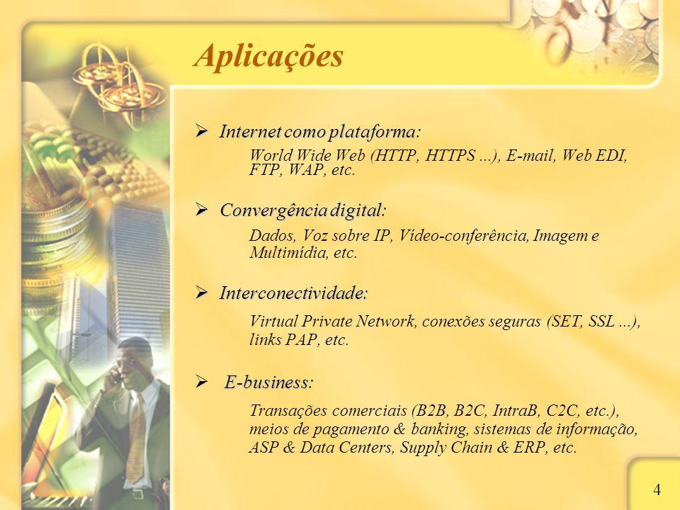 Localmente 15 Ambiente SoHo e Residencial Rádio difusão Rádio difusão: via microondas de rádio (espalhamento por difusão) e provedor, através de antenas receptoras (cliente) e estações rádio-base Problemas específicos: interferência de ondas, instabilidade, obsolescência tecnológica, restrição à implementação de novas estações rádio-base, banda tecnicamente não garantida Exemplos: IP2 (Paulista Networks), ZumNet, etc.
