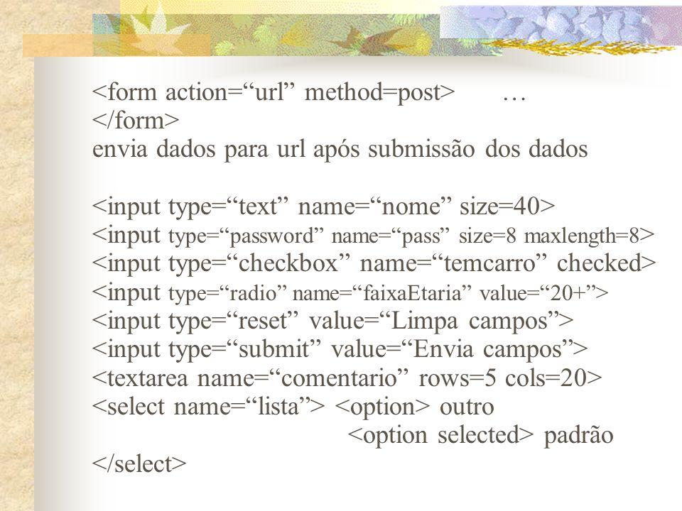 … envia dados para url após submissão dos dados outro padrão