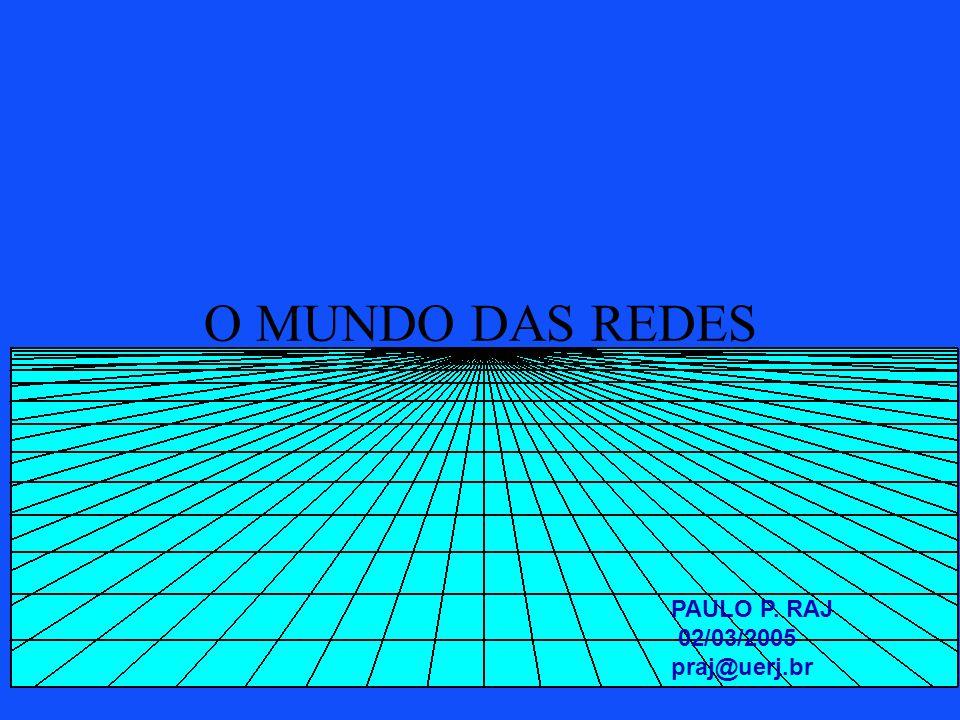 O MUNDO DAS REDES PAULO P. RAJ 02/03/2005 praj@uerj.br