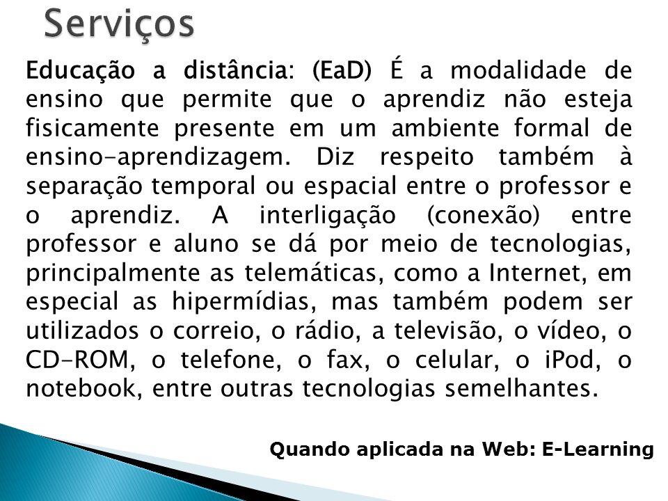 WWW-World Wide Web: (que em português significa, Rede de alcance mundial ; também conhecida como Web e WWW) é um sistema de documentos em hipermídia que são interligados e executados na Internet.