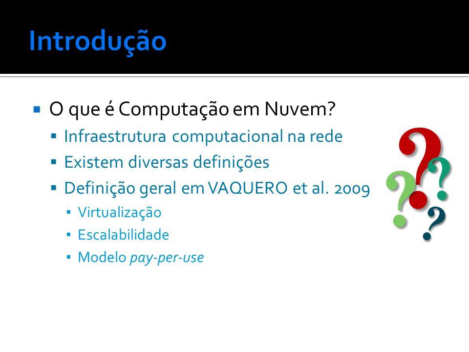 Google e IBM Parceria em computação em nuvem Sete universidades dos EUA envolvidas PCiO Sistema de computação em nuvem brasileiro Problemas Resistência dos usuários Serviço de Internet