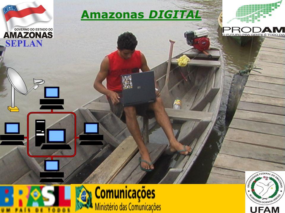 12 Amazonas DIGITAL SEPLAN - Secretaria de Estado de Planejamento e Desenvolvimento Econômico Uso da infra-estrutura disponibilizada pelo GESAC para implantar a solução em um município ainda não atendido pelo Ministério das Comunicações (PROCESSO 53000.072991/2006 DE 25/08/2006) PARCERIA COM O MC