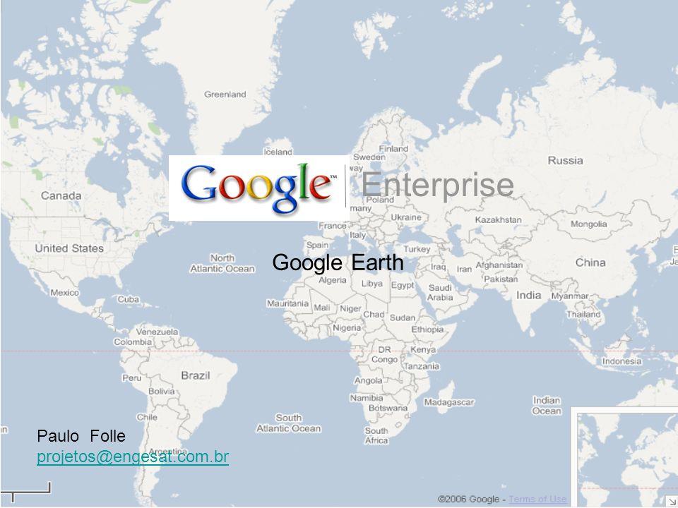 –Guias de busca podem ser customizadas Use seu proprio banco Web –Números BE –MIDB –Integração com MetaCarta –Pesquisa aplicada google (GSA) –Envie dados KML para seus usuários Camadas Raster –Imagens diárias de satélite –Mapas topográficos DRG Camadas de vetor –Melhor caminho Serviços de Internet –MGRS para cáluclo de grids –localização de ativos –Teremotos –HTTPS conecsões dados, KML, suporte de buscas –Paginas de ajuda Guia de usuario, dicas iniciais Gerando um Globo completo: Itens para customizar