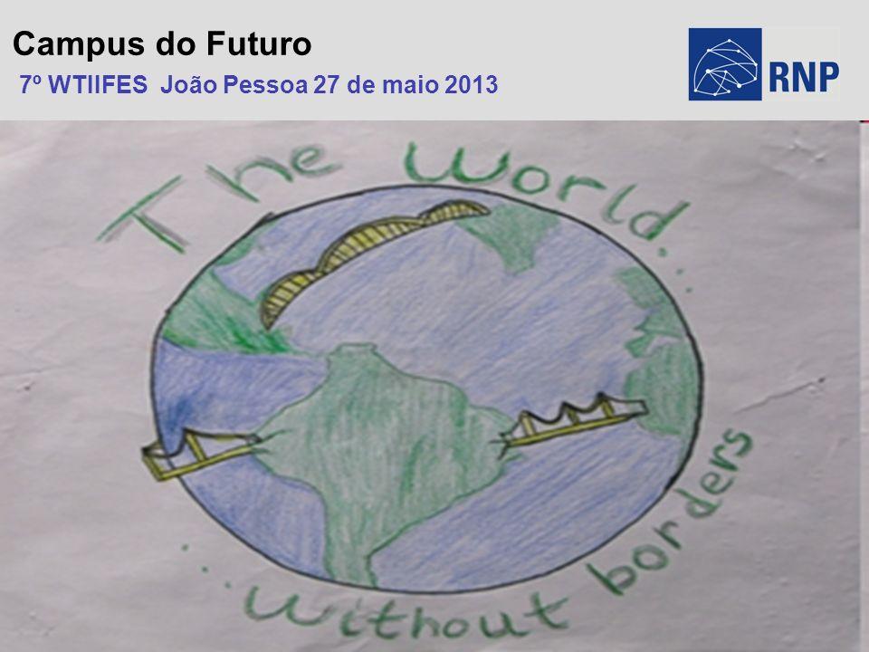 RNP/PAL/0200 © 2003 – RNP Campus do Futuro 7º WTIIFES João Pessoa 27 de maio 2013