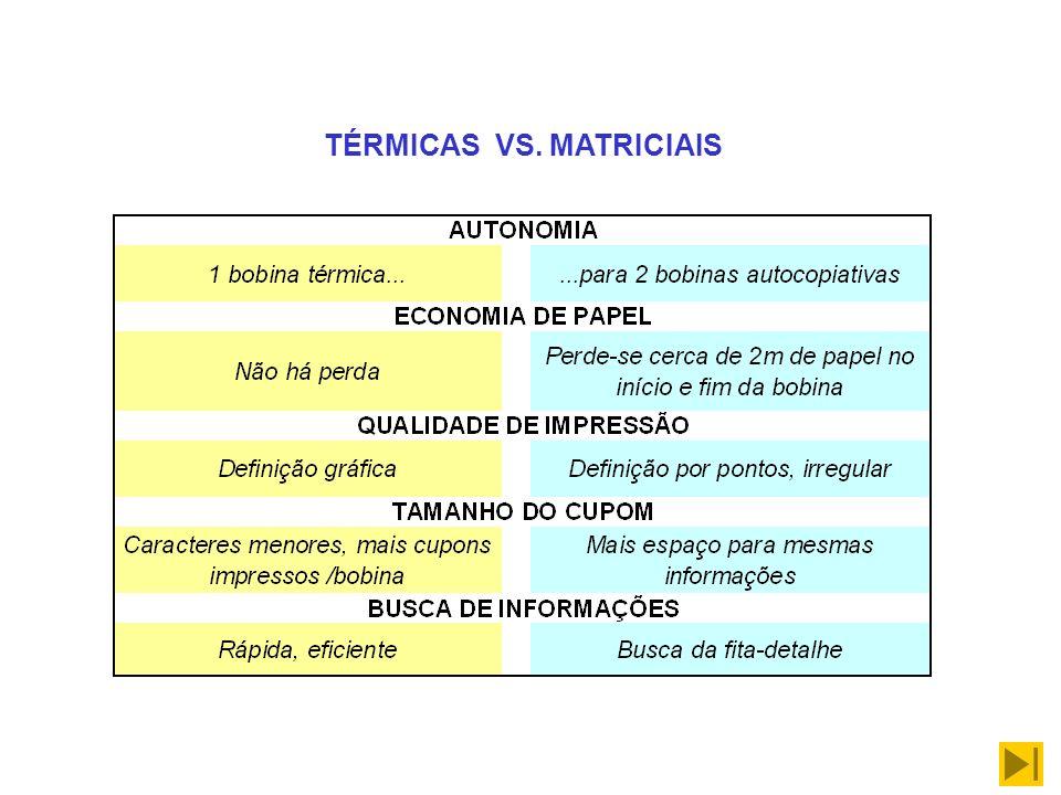 TÉRMICAS VS. MATRICIAIS