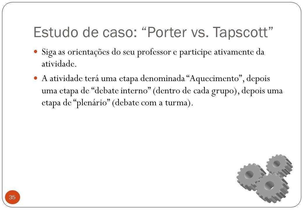 Estudo de caso: Porter vs.