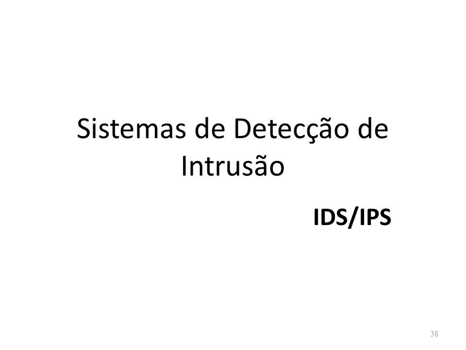 Sistemas de Detecção de Intrusão IDS/IPS 38
