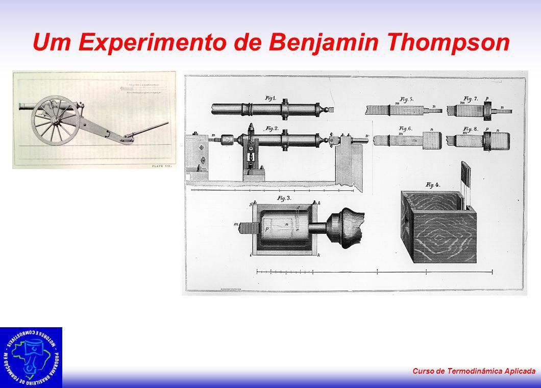 Curso de Termodinâmica Aplicada Um Experimento de Benjamin Thompson