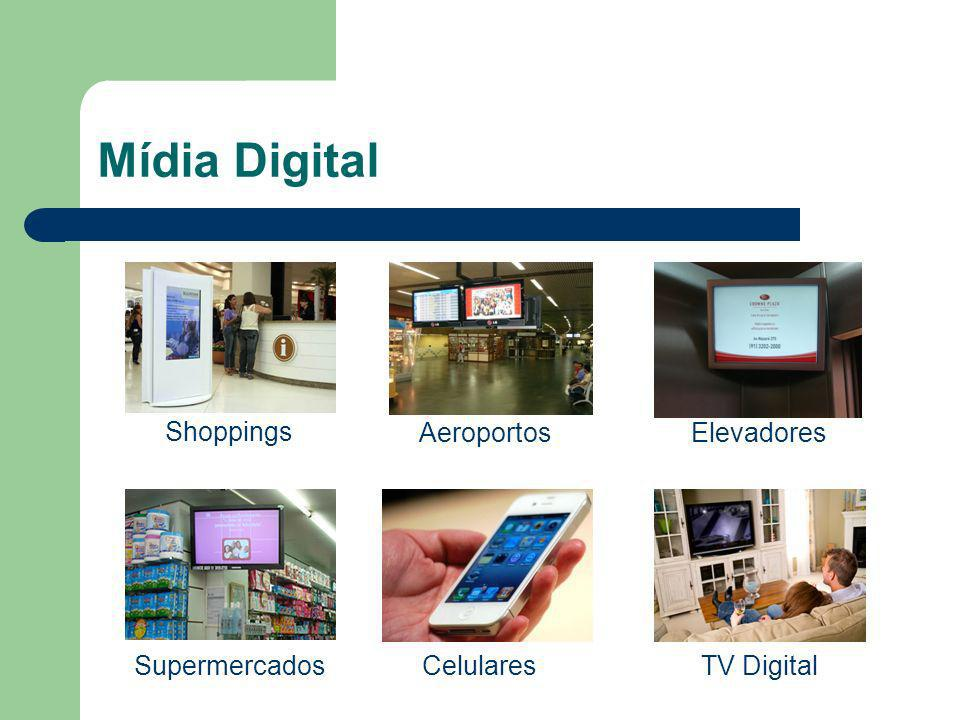 Mídia Digital Shoppings Elevadores Supermercados Aeroportos CelularesTV Digital