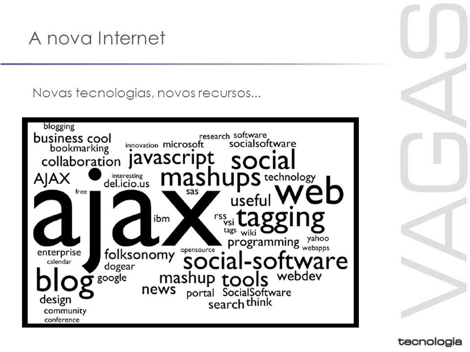 A nova Internet Novas tecnologias, novos recursos...