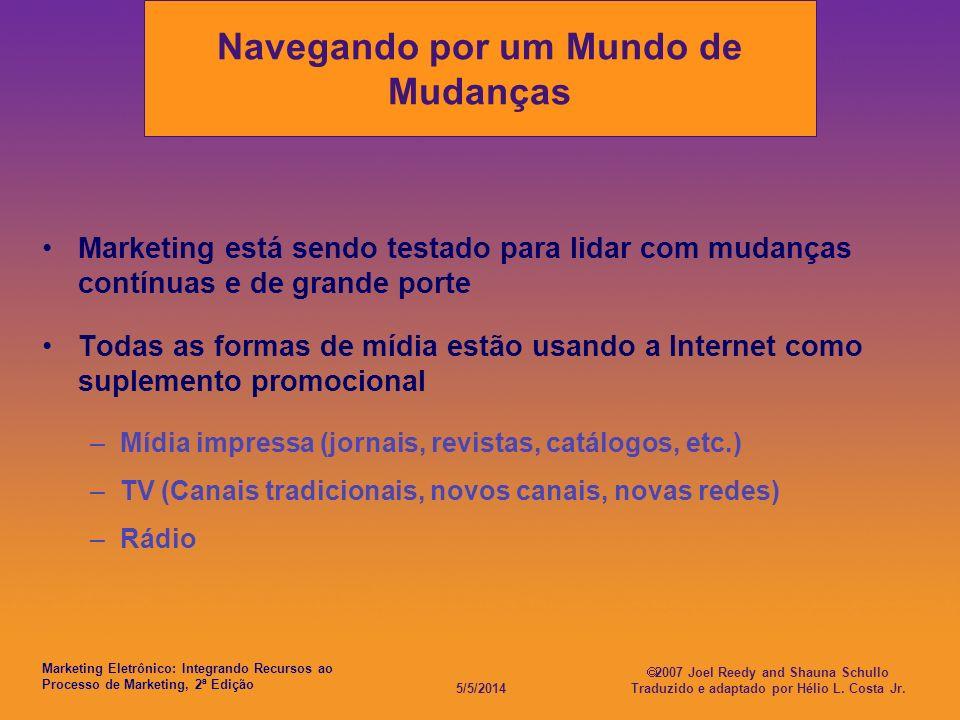 Marketing Eletrônico: Integrando Recursos ao Processo de Marketing, 2ª Edição 5/5/2014 2007 Joel Reedy and Shauna Schullo Traduzido e adaptado por Hél