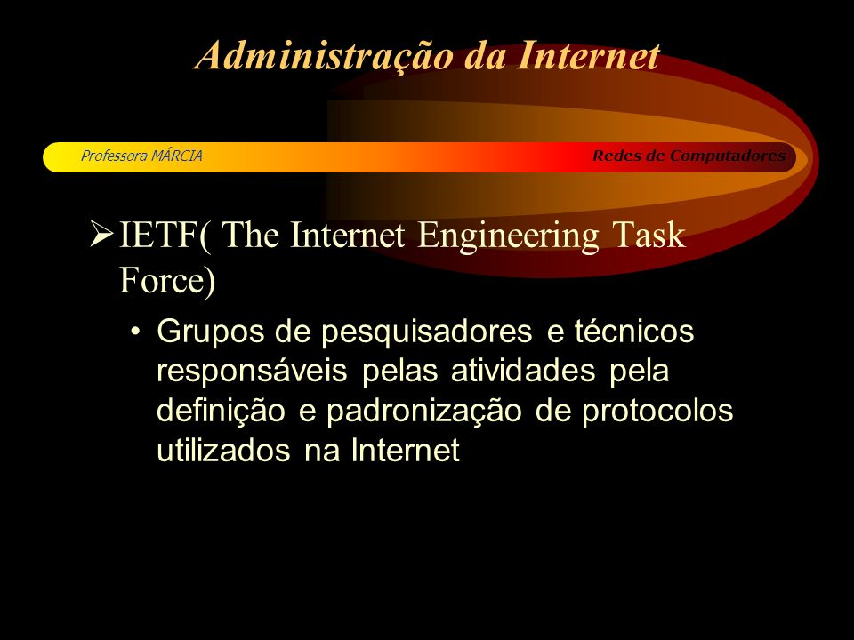 Redes de Computadores Professora MÁRCIA Protocolos de Comunicação Conjunto de regras que regem a troca de informações entre computadores XXX 80 xx Protocolos de Comunicação Computador A Computador B