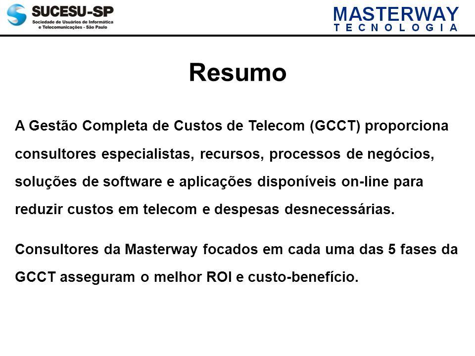 A Gestão Completa de Custos de Telecom (GCCT) proporciona consultores especialistas, recursos, processos de negócios, soluções de software e aplicaçõe