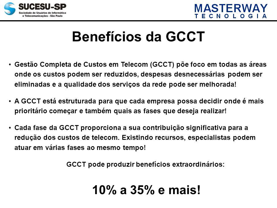 Benefícios da GCCT Gestão Completa de Custos em Telecom (GCCT) põe foco em todas as áreas onde os custos podem ser reduzidos, despesas desnecessárias