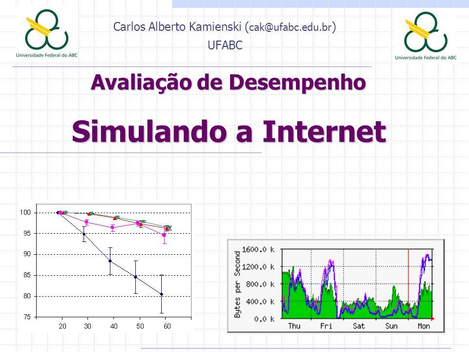 Avaliação de Desempenho Simulando a Internet Carlos Alberto Kamienski ( cak@ufabc.edu.br ) UFABC