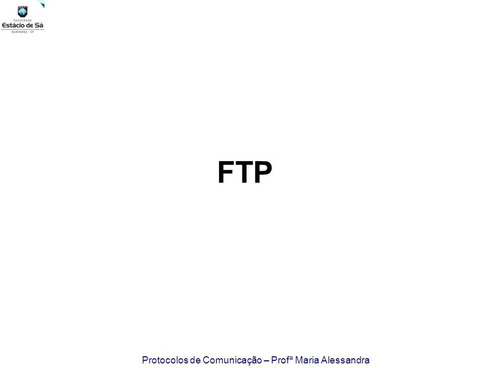 Protocolos de Comunicação – Profª Maria Alessandra FTP