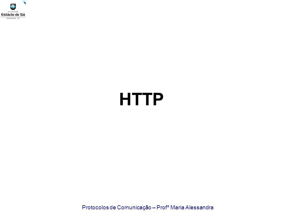 Protocolos de Comunicação – Profª Maria Alessandra HTTP