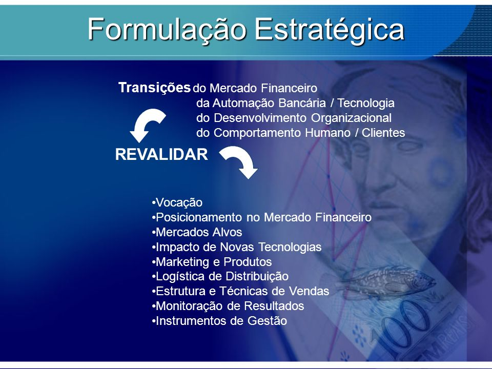 Transições do Mercado Financeiro da Automação Bancária / Tecnologia do Desenvolvimento Organizacional do Comportamento Humano / Clientes REVALIDAR Voc