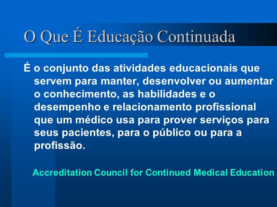 O Que É Educação Continuada É o conjunto das atividades educacionais que servem para manter, desenvolver ou aumentar o conhecimento, as habilidades e