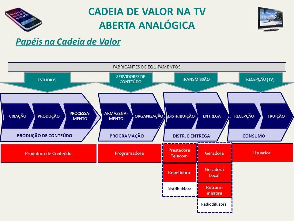 Papéis na Cadeia de Valor PAPAPAPA CRIAÇÃO PRODUÇÃO PROCESSA- MENTO ARMAZENA- MENTO ORGANIZAÇÃO DISTRIBUIÇÃOENTREGARECEPÇÃOFRUIÇÃO Programadora Usuári