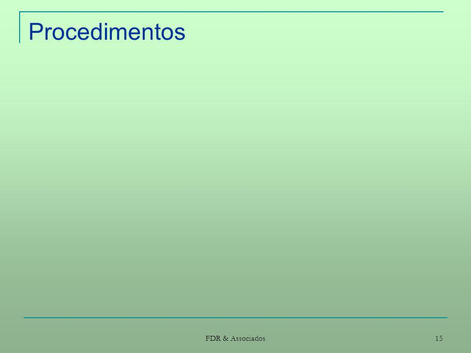 FDR & Associados 15 Procedimentos