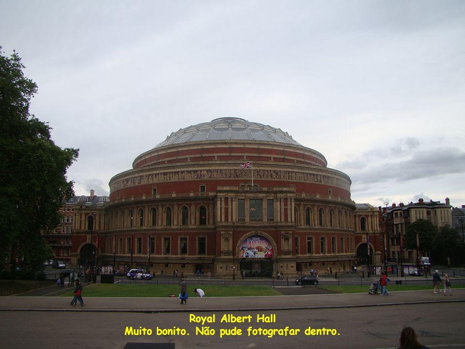 Royal Albert Hall Muito bonito. Não pude fotografar dentro.