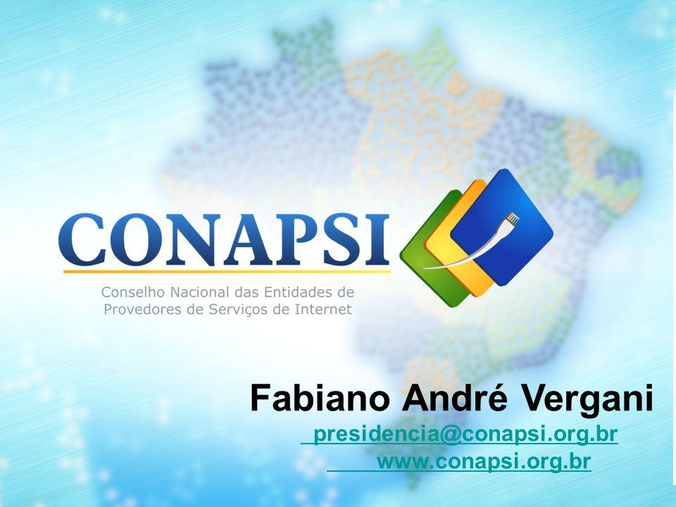CONAPSI O CONAPSI – Conselho Nacional de entidades de Provedores de Serviços de Internet - congrega atualmente oito associações de provedores de todo o país.