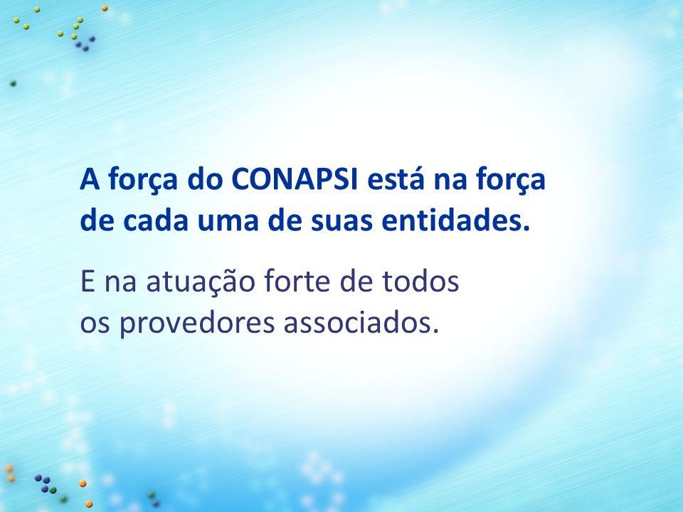 E na atuação forte de todos os provedores associados. A força do CONAPSI está na força de cada uma de suas entidades.