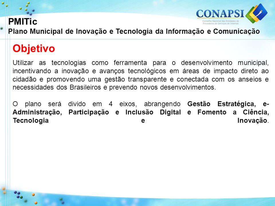 Objetivo Utilizar as tecnologias como ferramenta para o desenvolvimento municipal, incentivando a inovação e avanços tecnológicos em áreas de impacto