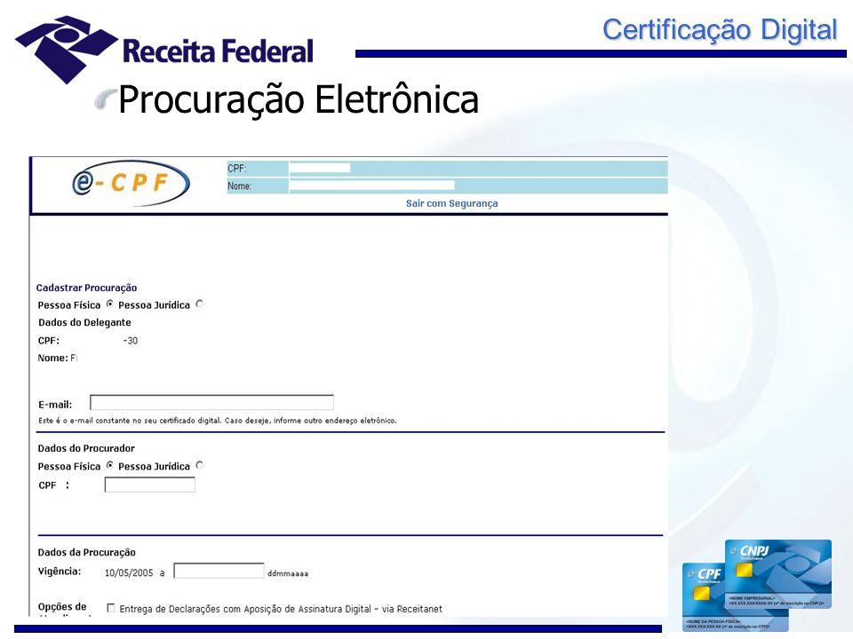 Certificação Digital Procuração Eletrônica