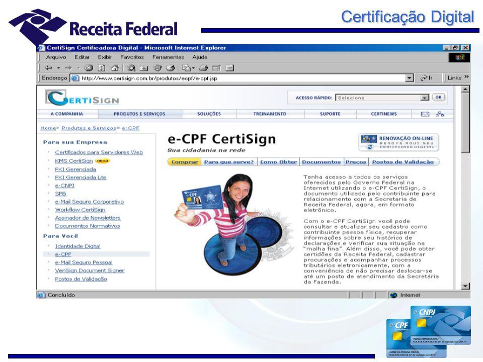 Certificação Digital Sistemas de Comércio Exterior